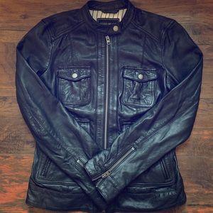 Women's Lucky Brand Black Leather Jacket (XS)